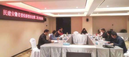 民建省委经济委员会召开第二次主任会议