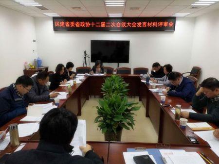 民建省委召开省政协大会发言材料评审会
