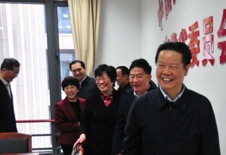 张昌尔刘莉走访民建安徽省委机关